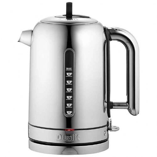 Dualit Classic 1.7L Kettle Polished Stainless Steel Black Trim 72815